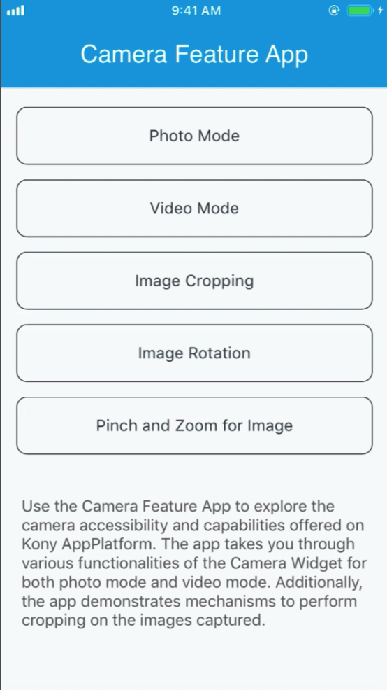 Camera Feature App - Screen-Thumbnail