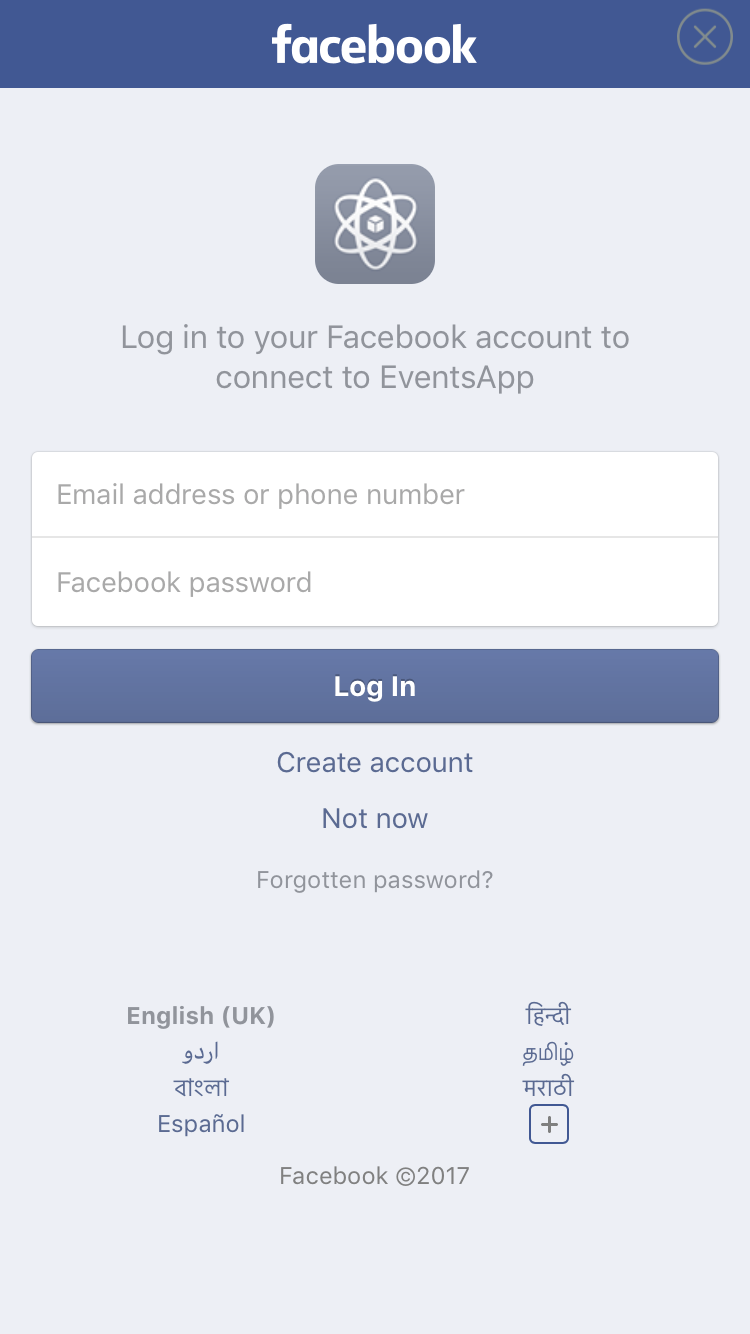 Facebook Login - Screen-Thumbnail