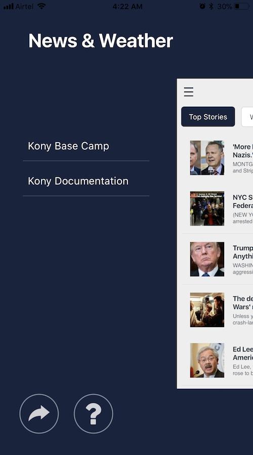 News and Weather | Kony Marketplace
