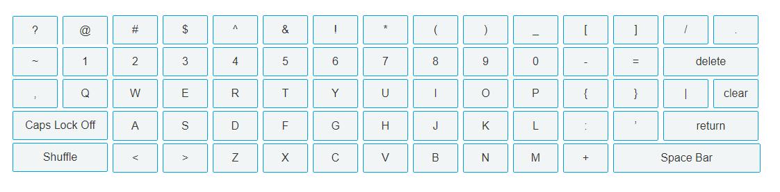 Virtual keyboard - Screen-Thumbnail