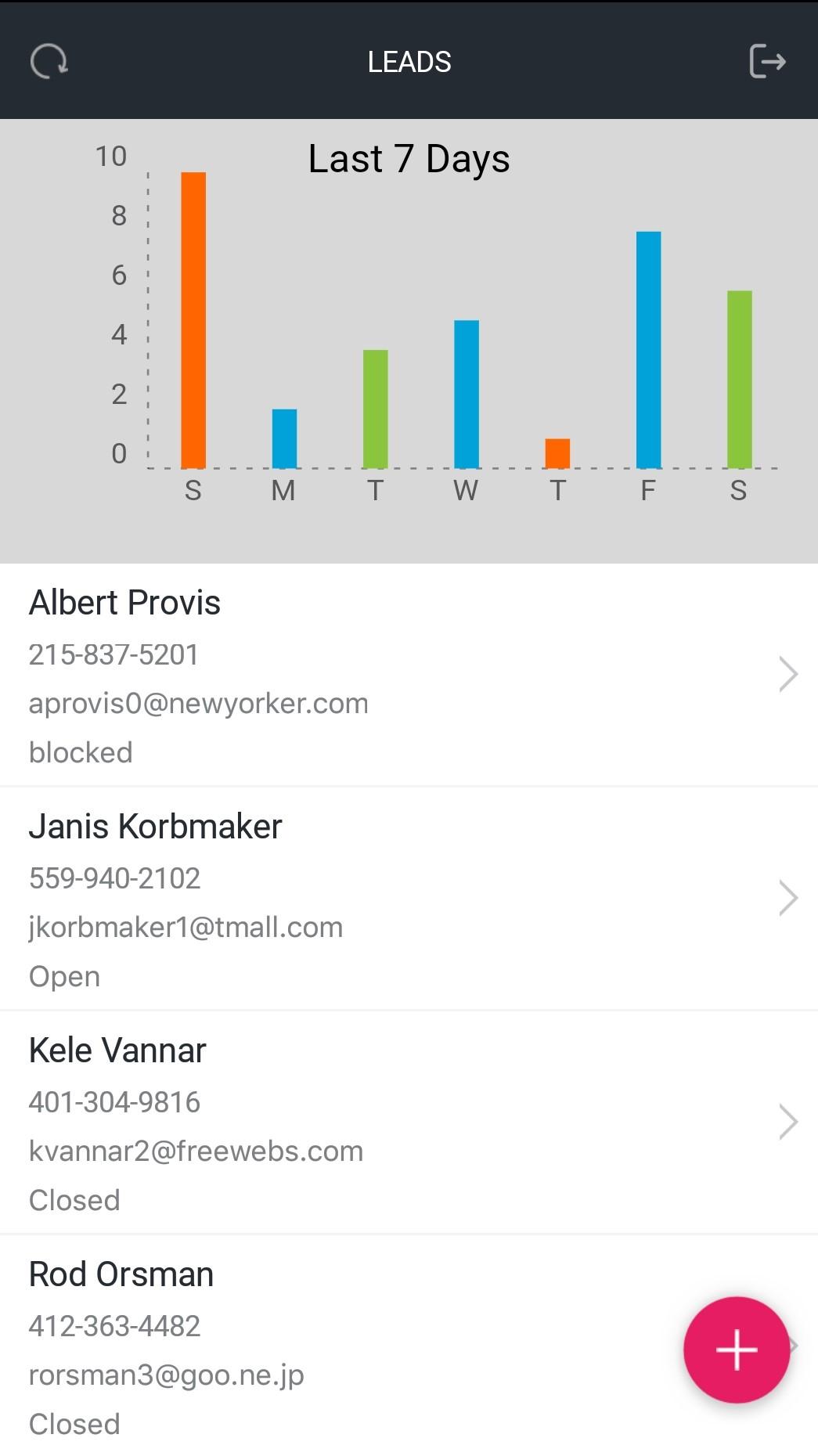 Google Sheets data driven app - Screen-Thumbnail