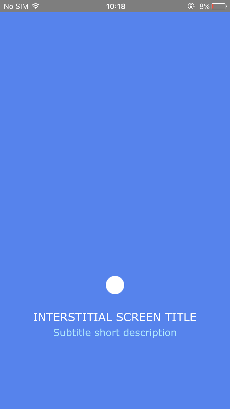 Interstitial Screen (Bouncing Object) - Screen-Thumbnail