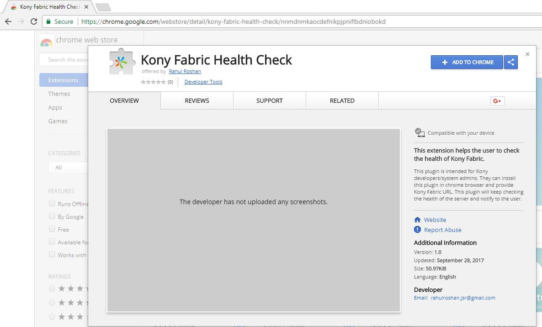 chrome extension check web technology